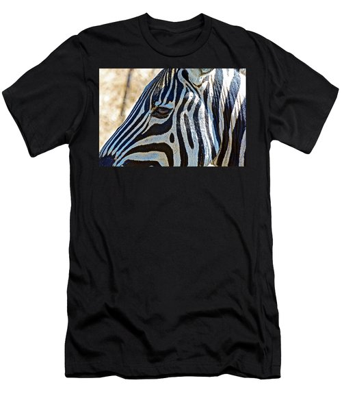 Burchell's Zebra's Face In Kruger National Park-south Africa Men's T-Shirt (Athletic Fit)