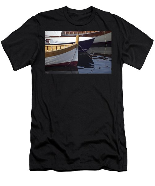 Burgundy Boat Men's T-Shirt (Athletic Fit)