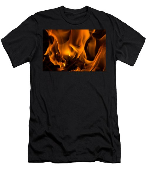 Burning Holly Men's T-Shirt (Athletic Fit)
