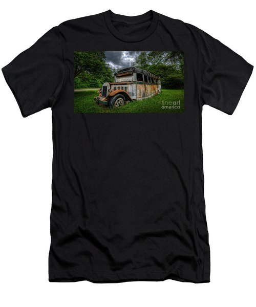 Bus Decay 16 By 9  Men's T-Shirt (Athletic Fit)