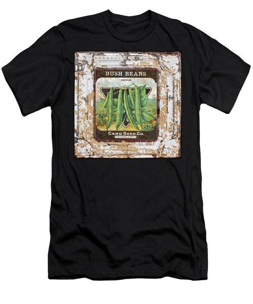 Bush Beans On Vintage Tin Men's T-Shirt (Athletic Fit)