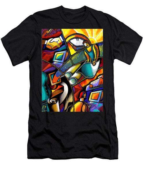 Business World Men's T-Shirt (Athletic Fit)