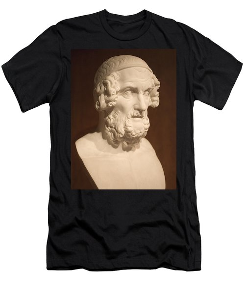 Men's T-Shirt (Slim Fit) featuring the photograph Bust Of Homer by Mark Greenberg