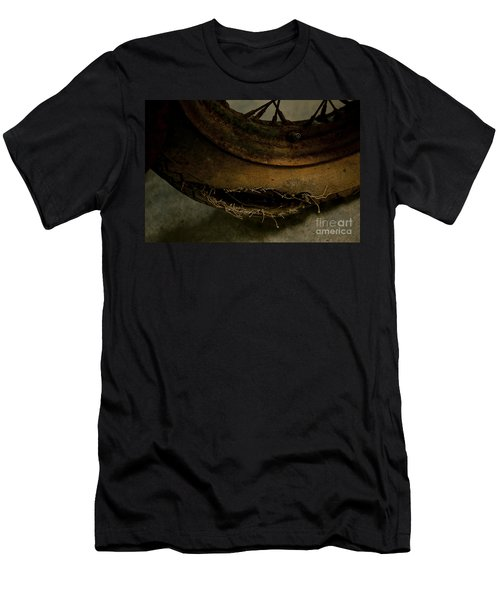 Busted Motorcycle Tire Men's T-Shirt (Slim Fit) by Wilma  Birdwell