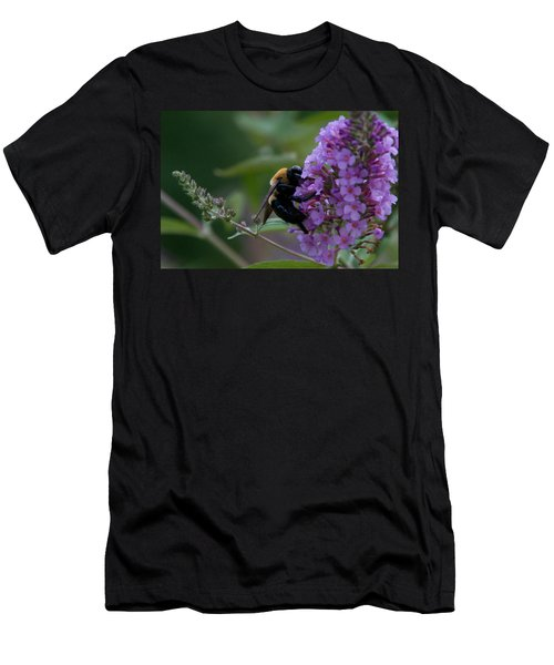 Men's T-Shirt (Slim Fit) featuring the photograph Busy Bee by Greg Graham