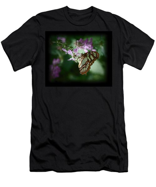 Men's T-Shirt (Slim Fit) featuring the photograph Butterfly 7 by Leticia Latocki