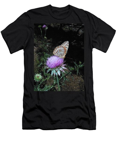 Butterfly At Peace Men's T-Shirt (Athletic Fit)
