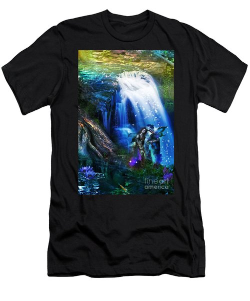 Butterfly Ball Waterfall Men's T-Shirt (Athletic Fit)