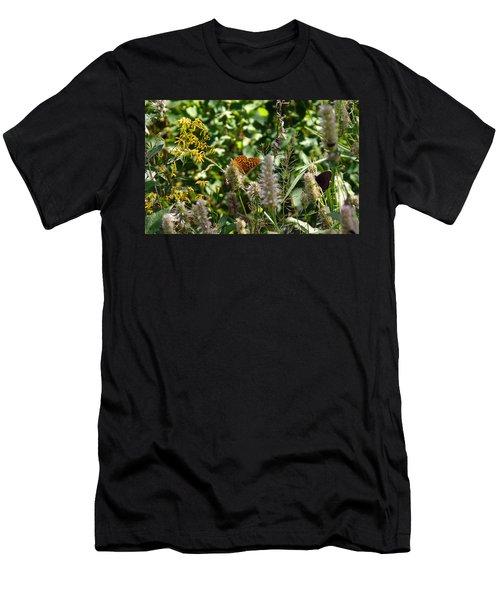 Men's T-Shirt (Slim Fit) featuring the photograph Butterfly Buffet by Meghan at FireBonnet Art