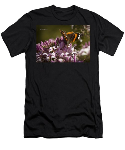 Men's T-Shirt (Athletic Fit) featuring the photograph Butterfly Close Up by Stwayne Keubrick