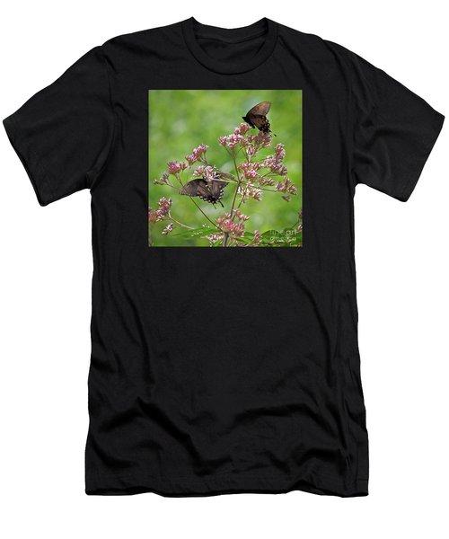 Butterfly Duet  Men's T-Shirt (Athletic Fit)