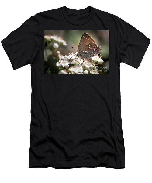 Butterfly In The Garden Men's T-Shirt (Athletic Fit)