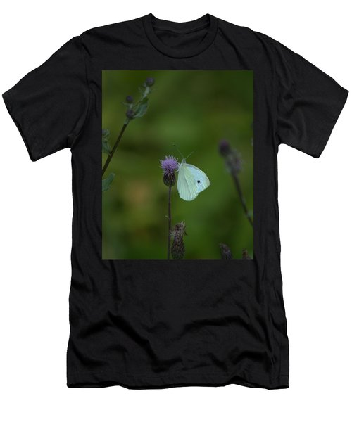 Butterfly In White 2 Men's T-Shirt (Athletic Fit)