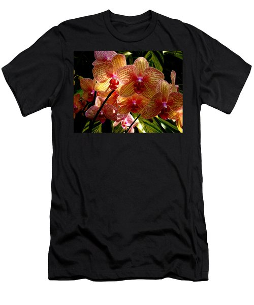 Men's T-Shirt (Slim Fit) featuring the photograph Butterfly Orchids by Rodney Lee Williams