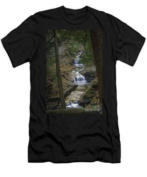 Buttermilk Falls In Autumn IIi Men's T-Shirt (Athletic Fit)