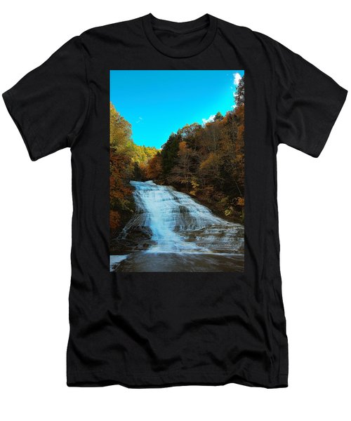 Men's T-Shirt (Slim Fit) featuring the photograph Buttermilk Falls Ithaca New York by Paul Ge