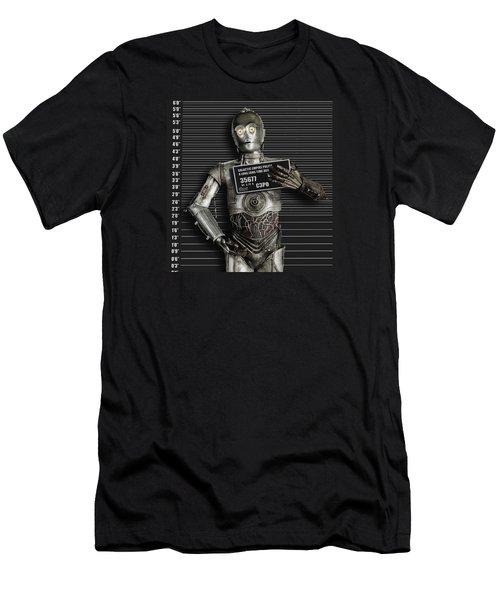 C-3po Mug Shot Men's T-Shirt (Athletic Fit)