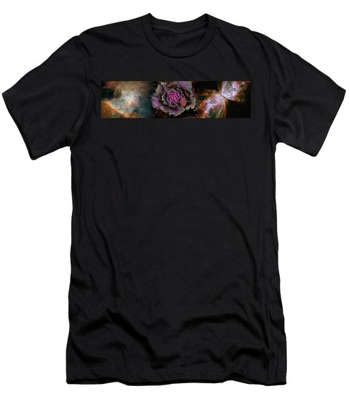Cabbage With Butterfly Nebula Men's T-Shirt (Athletic Fit)