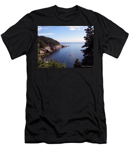 Cabot Trail Kayak Men's T-Shirt (Athletic Fit)