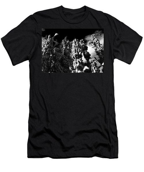 Men's T-Shirt (Slim Fit) featuring the photograph Cactus 1 Bw by Mariusz Kula