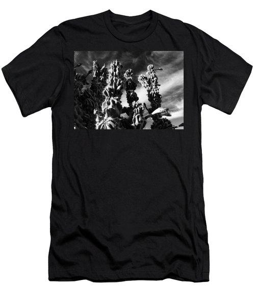Cactus 2 Bw Men's T-Shirt (Athletic Fit)