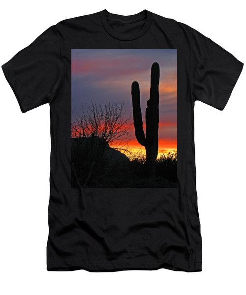 Cactus At Sunset Men's T-Shirt (Athletic Fit)