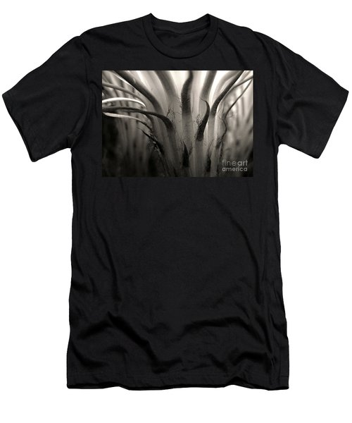 Cactus Bloom In Sepia Men's T-Shirt (Athletic Fit)