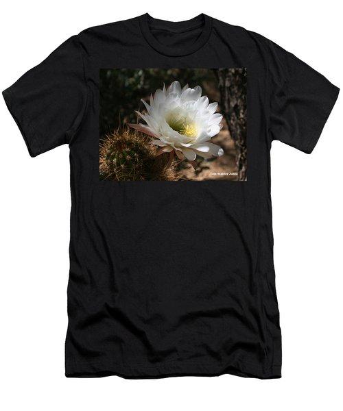 Cactus Flower Full Bloom Men's T-Shirt (Athletic Fit)