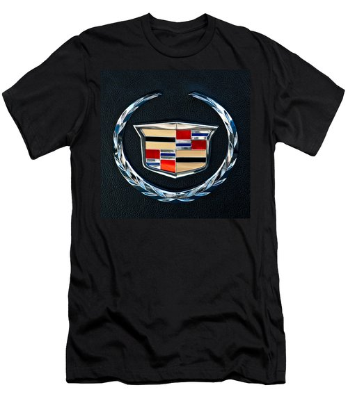 Cadillac Emblem Men's T-Shirt (Slim Fit) by Jill Reger