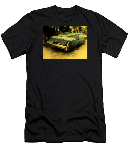 Men's T-Shirt (Slim Fit) featuring the photograph Cadillac Wreck by Salman Ravish