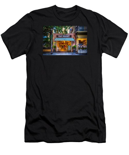 Cafe Beignet Morning Nola Men's T-Shirt (Athletic Fit)