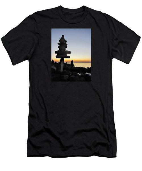 Cairns At Sunset At Door Bluff Headlands Men's T-Shirt (Slim Fit) by David T Wilkinson