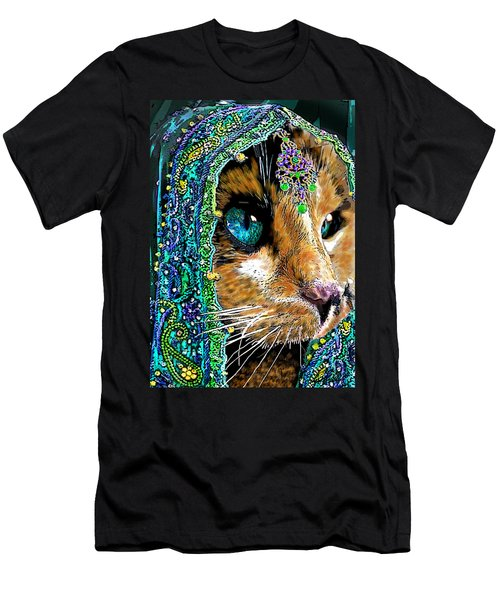 Calico Indian Bride Cats In Hats Men's T-Shirt (Athletic Fit)
