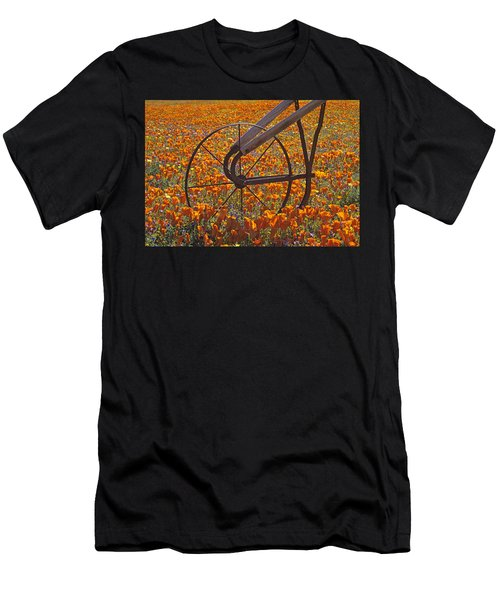 California Poppy Field Men's T-Shirt (Athletic Fit)