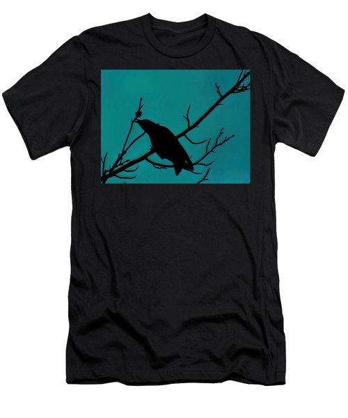 Call Of The Crow On Aqua 2 Men's T-Shirt (Athletic Fit)
