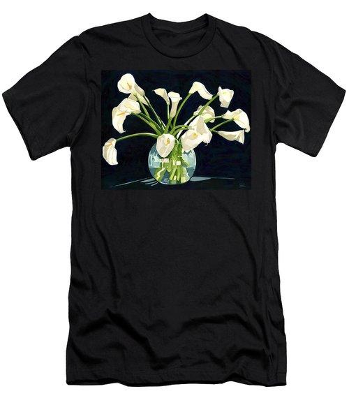 Calla Lilies In Vase Men's T-Shirt (Athletic Fit)