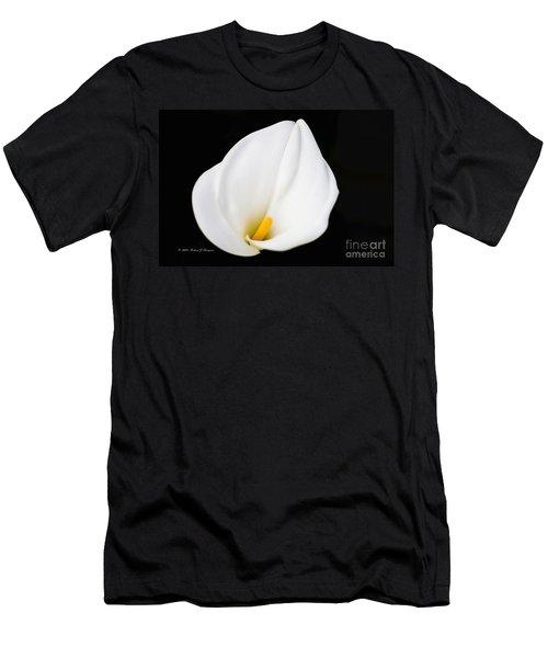 Calla Lily Flower Face Men's T-Shirt (Athletic Fit)