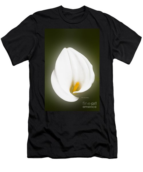 Calla Lily Flower Glow Men's T-Shirt (Athletic Fit)