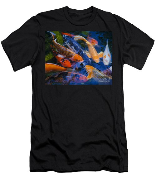 Men's T-Shirt (Slim Fit) featuring the photograph Calm Koi Fish by Jerry Cowart