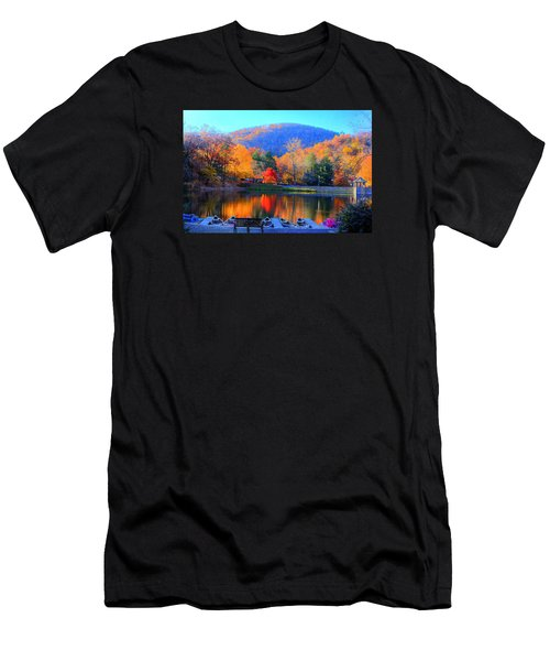 Calm Waters In The Mountains Men's T-Shirt (Athletic Fit)