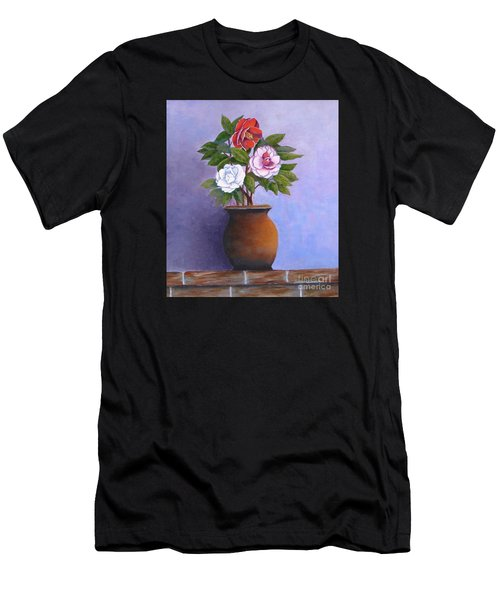 Camellia Bouquet Men's T-Shirt (Athletic Fit)