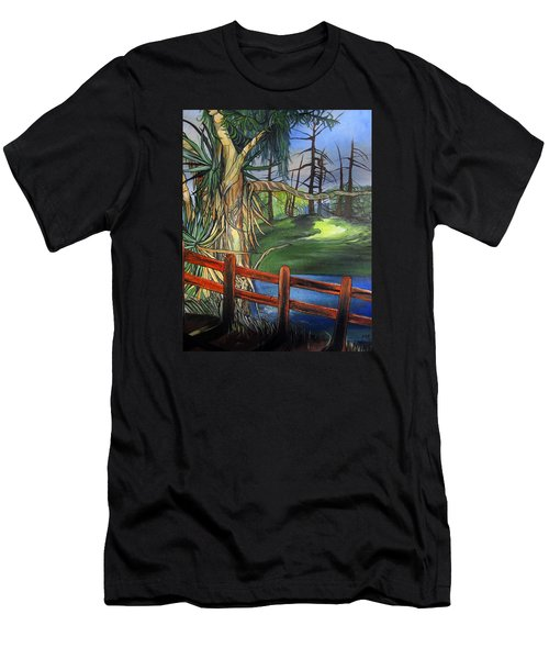 Camino Real Park Men's T-Shirt (Slim Fit) by Mary Ellen Frazee