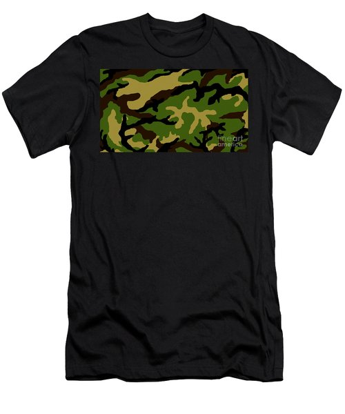 Camouflage Military Tribute Men's T-Shirt (Slim Fit) by Roz Abellera Art