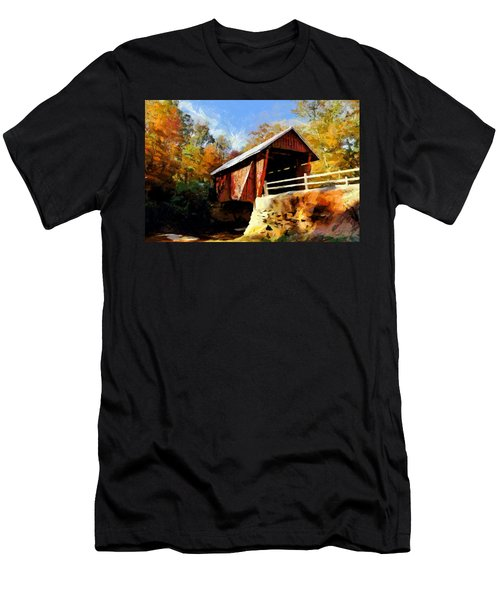 Campbell's Covered Bridge Men's T-Shirt (Slim Fit) by Lynne Jenkins