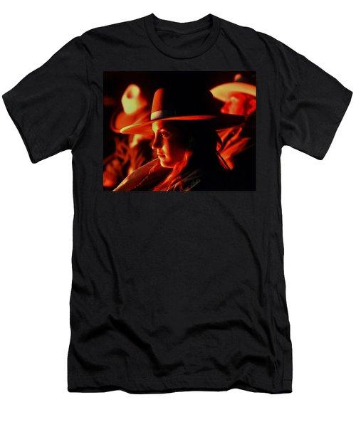 Campfire Glow Men's T-Shirt (Slim Fit) by Diane Bohna