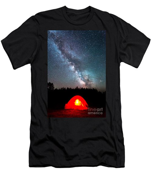 Camping At Night Men's T-Shirt (Athletic Fit)