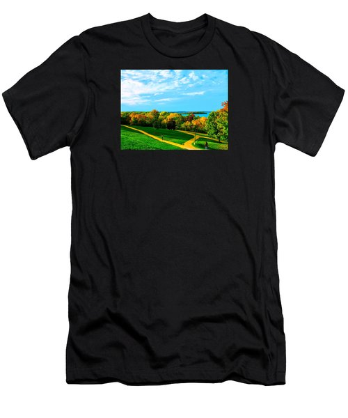 Campus Fall Colors Men's T-Shirt (Athletic Fit)
