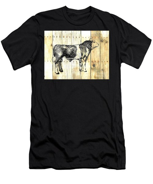Men's T-Shirt (Slim Fit) featuring the drawing Canadian Champion 9 by Larry Campbell