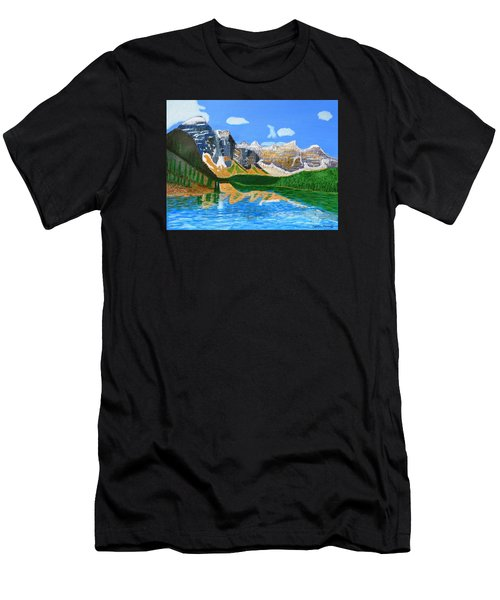 Canadian Mountains And Lake  Men's T-Shirt (Athletic Fit)