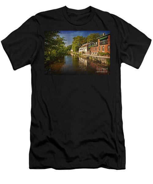 Canal Along The Porkyard Men's T-Shirt (Athletic Fit)
